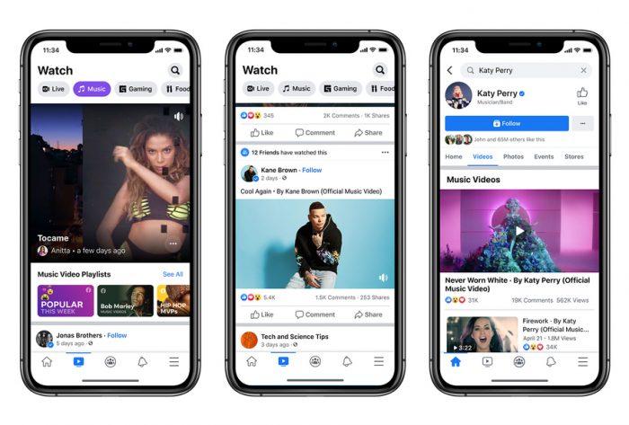 Facebook Musikvideos Screenshots