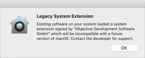 Kernel Extensions Fehler Macos Catalina