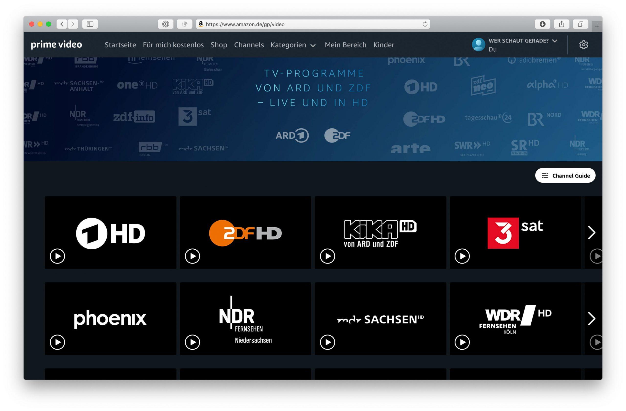 Prime Video Tv-Sendungen