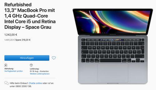 Macbook Pro 2020 Refurbished