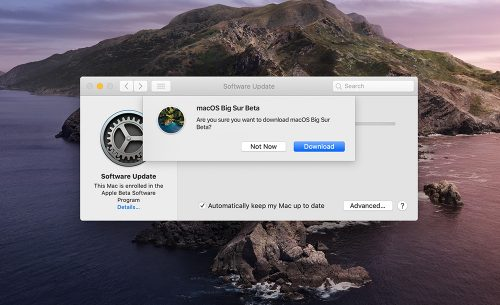 Macos Big Sure Public Beta Laden