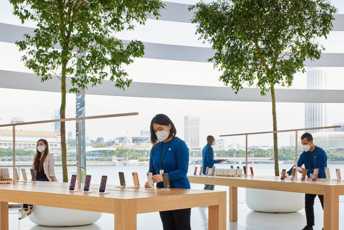 Apple Marina Bay Sands Innen