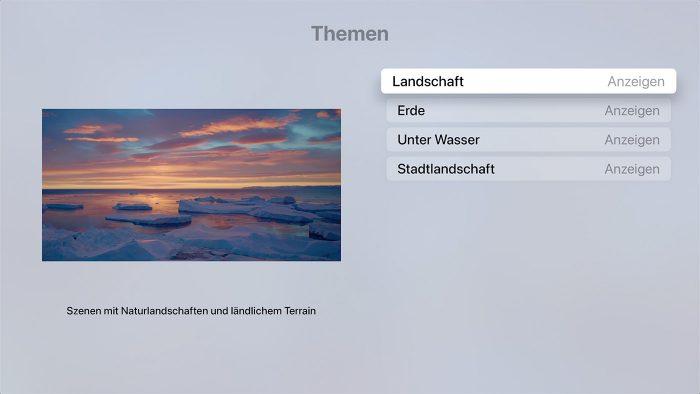 Apple Tv Bildschirmschoner Waehlen