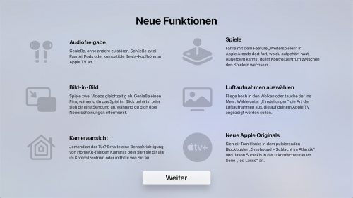 Apple Tv Tvos 14 Neue Funktionen