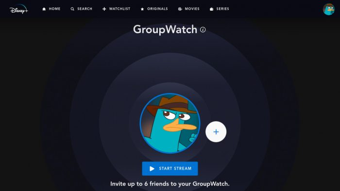 Disney Plus Group Watch Sceenshot
