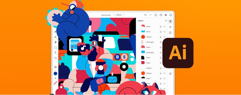 Adobe Illustrator ist für das iPad verfügbar